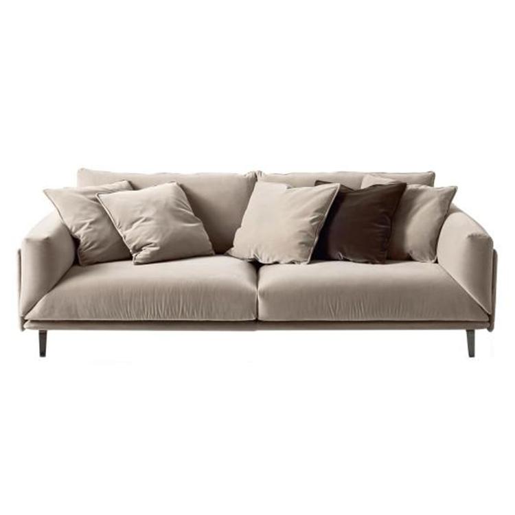 Arflex Faubourg Sofa 欧式 现代简约 五金脚双人三人四人 多人沙发 会所 别墅 酒店 客厅 布艺棉麻绒布 PU 真皮