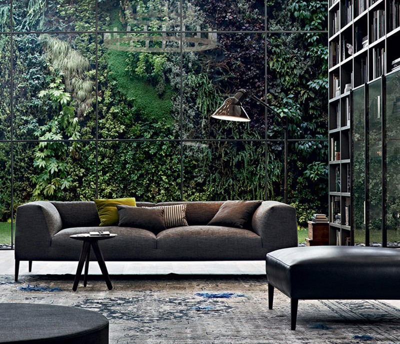 北欧意大利设计师设计沙发现代简约 舒适 木脚架五金脚架多人沙发 吉恩·马利·马索品牌家具