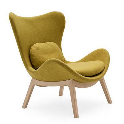 新款布艺懒人沙发椅 现货北欧休闲椅公寓  会所 别墅 客厅 酒店 样板房 玻璃钢椅 Lazya Armchair