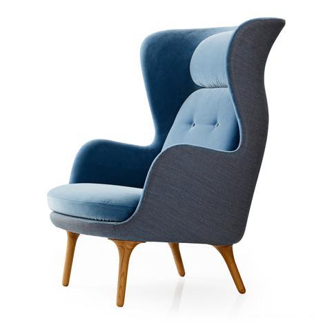 布艺高靠背椅罗扶手设计师原创躺椅北欧简约休闲椅