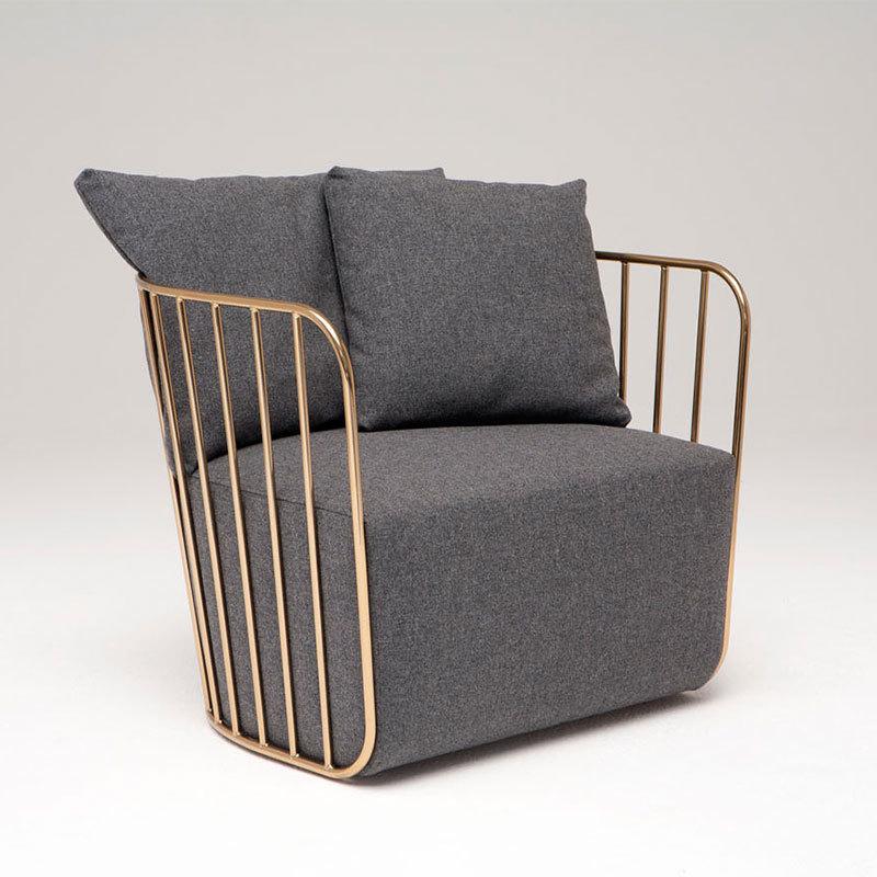 北欧铁艺沙发客厅时尚创意工作室咖啡厅服装店单双人沙发茶几组合