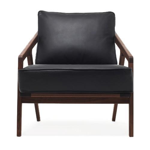 新中式沙发北欧现代简约实木真皮沙发组合客厅家具黑胡桃全屋定制