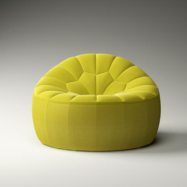 时尚艺术南瓜椅北欧设计师无扶手沙发椅客厅卧室懒人靠背休闲椅