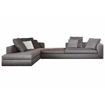 北欧布艺转角沙发组合现代简约小户型三人设计师客厅沙发