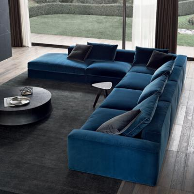 意大利设计师定制植绒沙发家具简约现代客厅沙发三人北欧沙发组合