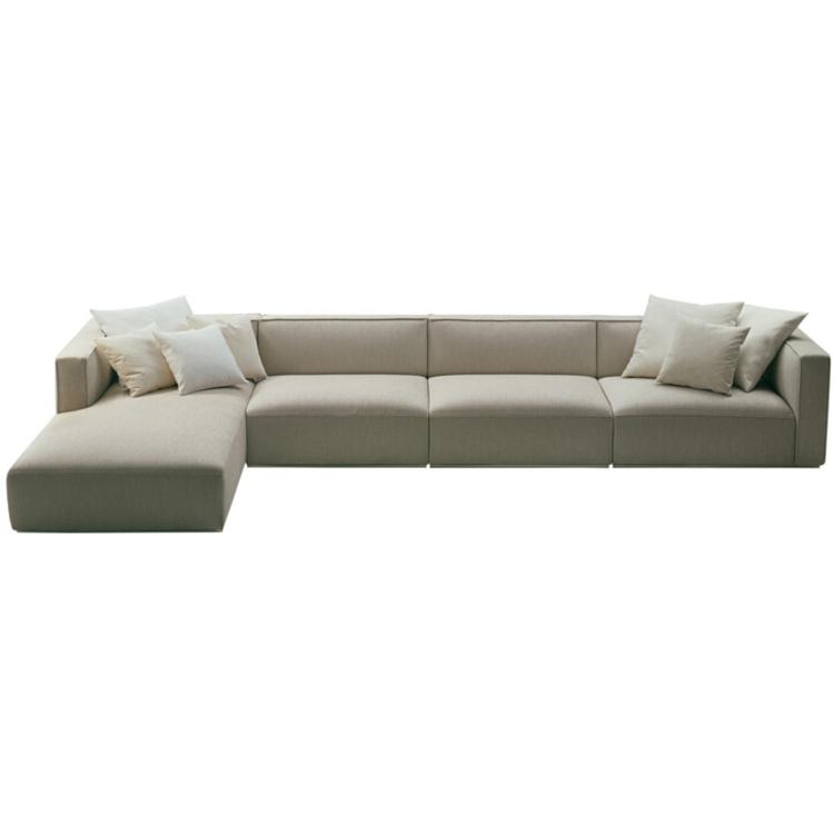 北欧三人布艺沙发组合现代客厅可拆洗羽绒布沙发大小户型转角沙发