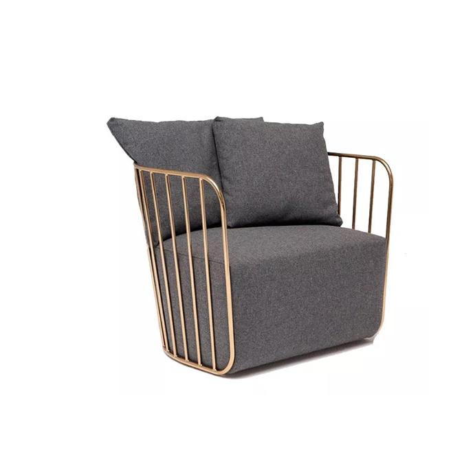 表情性感 304不锈钢 电镀 黑 白 金 银色reza feiz深灰色沙发创意不锈钢电镀金休闲沙发