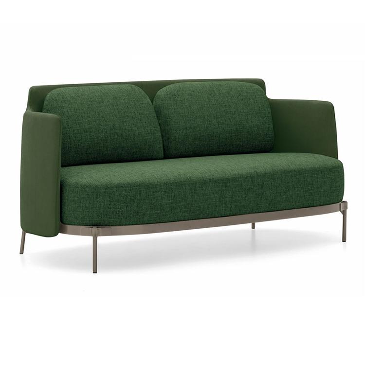 轻奢单人沙发简约北欧沙发椅后现代真皮休闲椅皮布艺设计师椅子