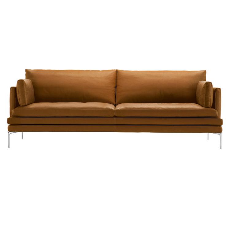 2019北欧意式轻奢极简头层皮客厅组合家具现代简约牛皮羽绒沙发