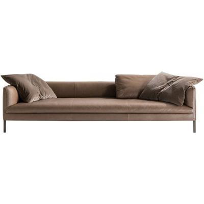 北欧单双三人位布艺沙发简约现代样板间客厅美式工业风全真皮沙发