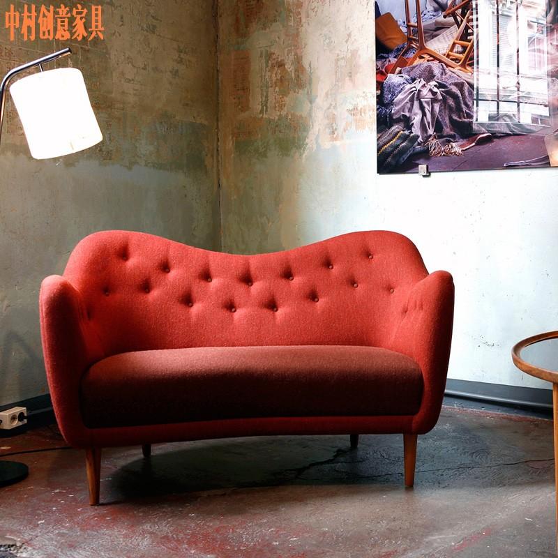日本客厅双人位沙发椅设计师塘鹅椅Pelicansofa躺椅洽谈会客椅