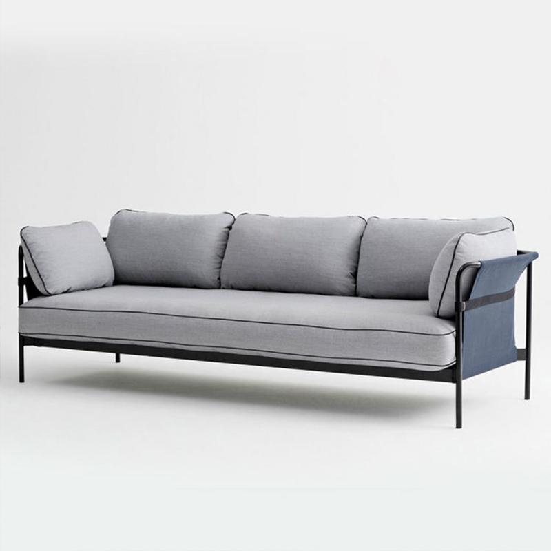 北欧现代简约布艺沙发 可拆卸洗 金属铁艺工业风 办公沙发 客厅沙发