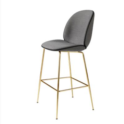 极简北欧甲壳虫靠背吧台椅酒吧个性创意高脚凳简约休闲咖啡厅椅子