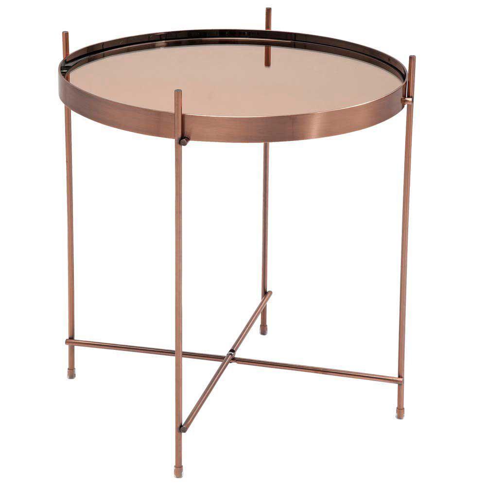 北欧简约现代铁艺电镀玻璃茶几金属边几轻奢简约设计咖啡几折叠桌