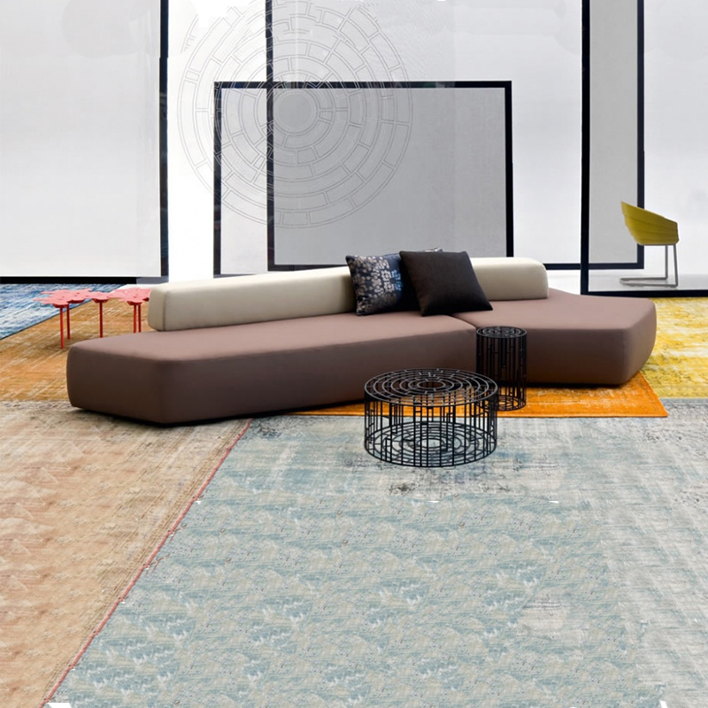 时尚杂志公司沙发高档服装定制公司沙发休息区沙发异形沙发