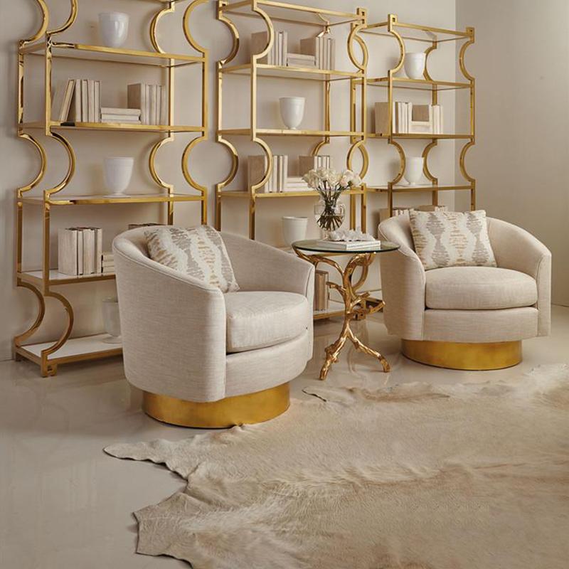 北欧新古典现代轻奢不锈钢单人沙发咖啡店服装店展厅时尚单人沙发