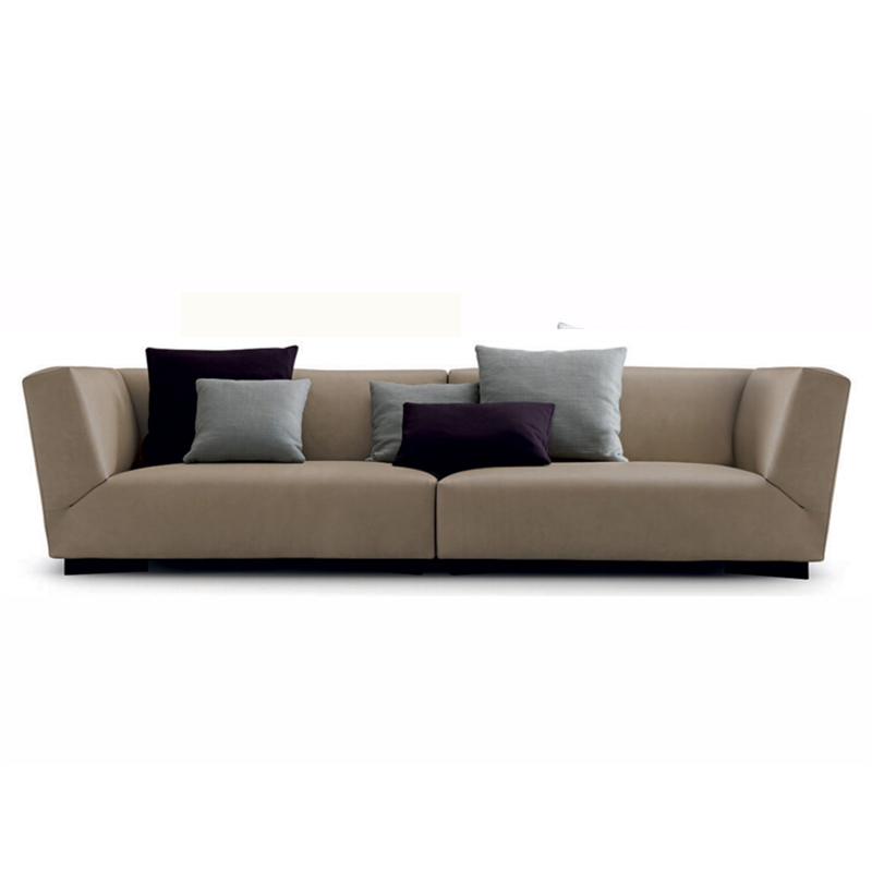 布艺沙发 北欧现代简约中小户型客厅三人双人牛皮沙发定制定做