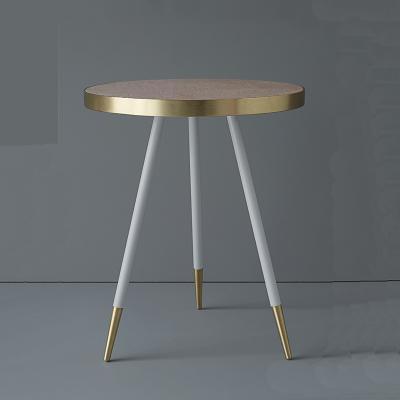 不锈钢金色大理石美观优雅 玫瑰金 茶几边几 美式现代边桌