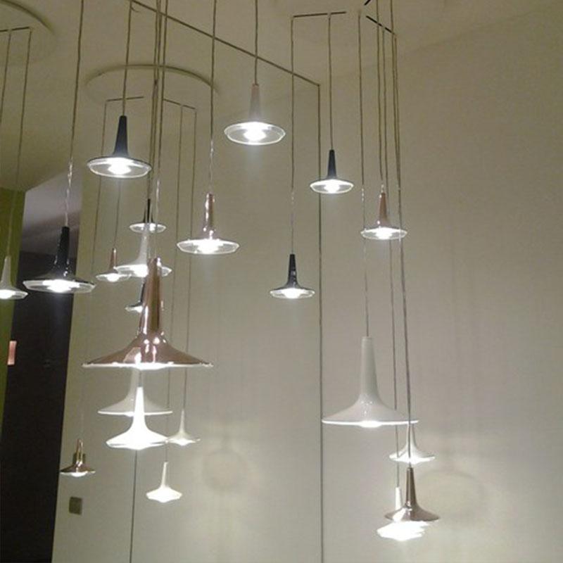 后现代风格金属客厅卧室餐桌精致吊灯