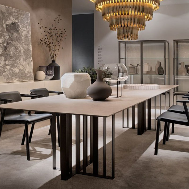 美式会议桌长桌 loft工业风办公桌 实木复古电脑桌 工作台长条培训桌子