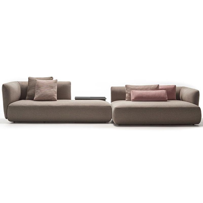 北欧异形沙发棉麻布艺组合创意个性省空间公司设计师休息区梳化床