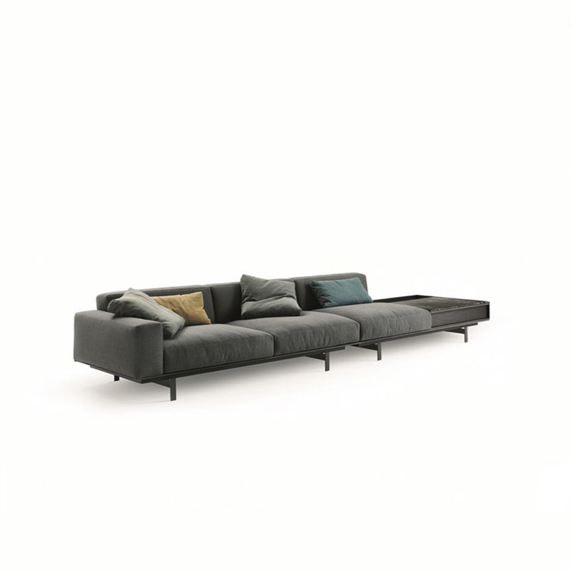 皮艺沙发北欧大小户型意式客厅家具现代简约