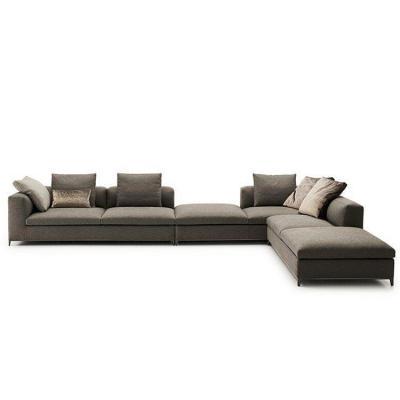 大牌欧式沙发 B&B Italia Michel Corner Sofa by Antonio Citterio Chaplins5 chaplins 现代简约客厅 酒店均可适用不锈钢底架