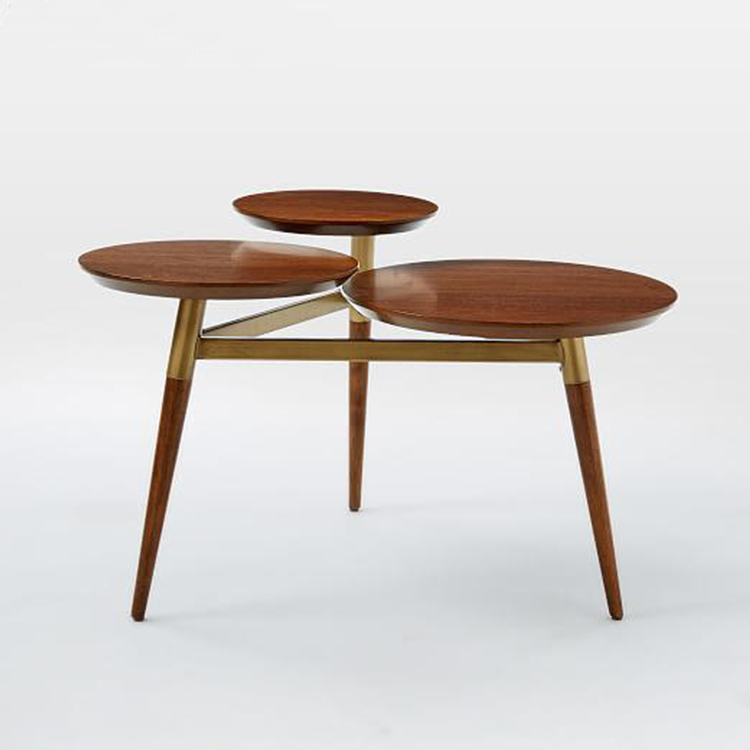 客厅沙发边几边桌北欧咖啡桌简约现代角几小茶几简约实木迷你圆几