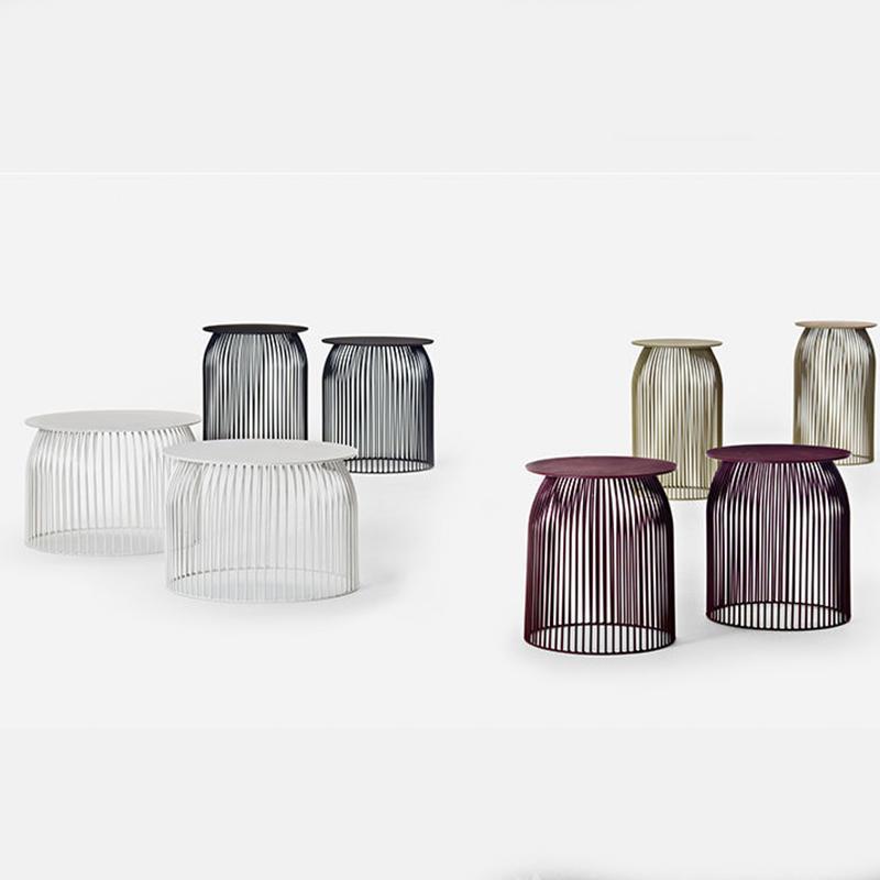 北欧现代简约铁艺茶几设计师创意茶几边几客厅金色茶几个性小圆桌