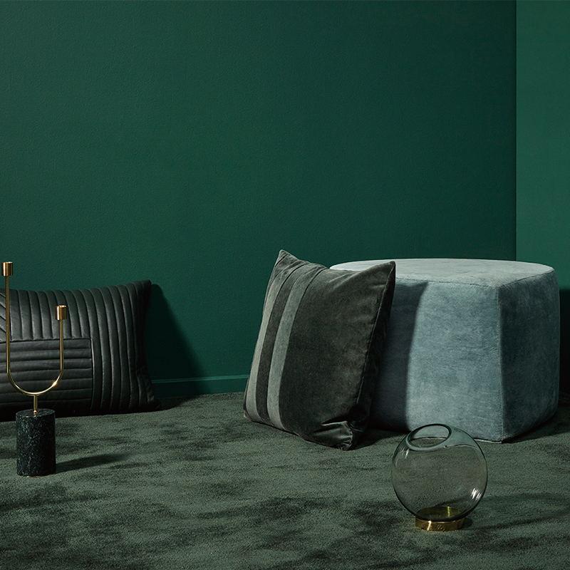 水滴天鹅绒丝绒沙发凳脚凳圆凳边几地毯STILLA系列 北欧设计