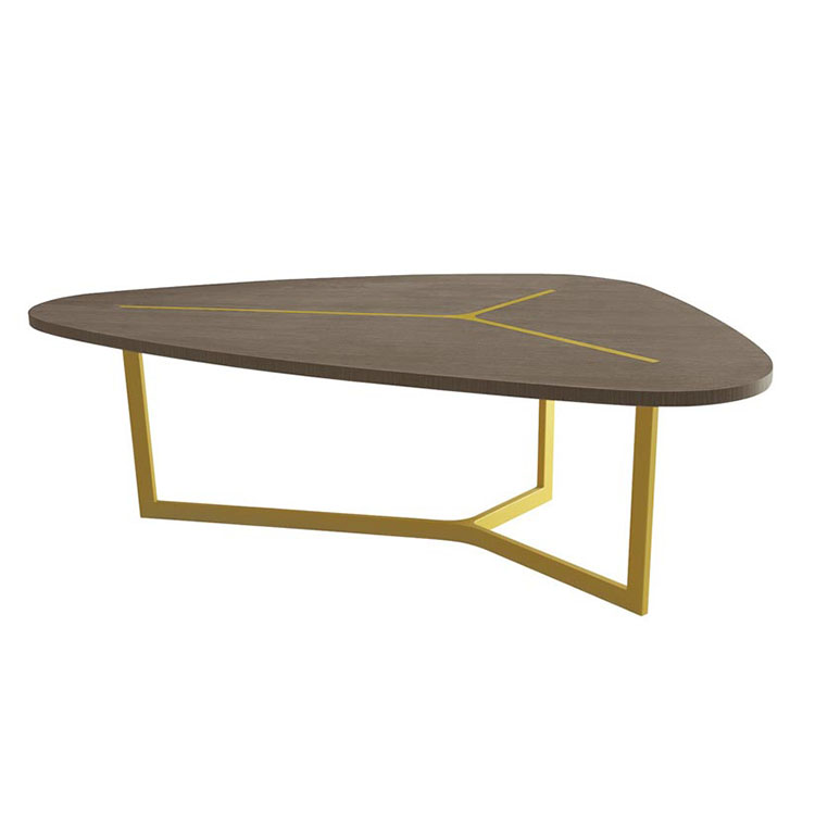 2019新款原木色餐桌钢琴烤漆茶几北欧黑橡木现代简约胡桃木色圆桌