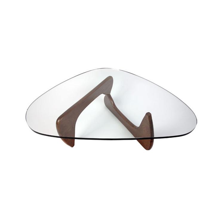 欧式三角形几实木人气钢化玻璃茶几大师设计创意边几客厅休闲角几