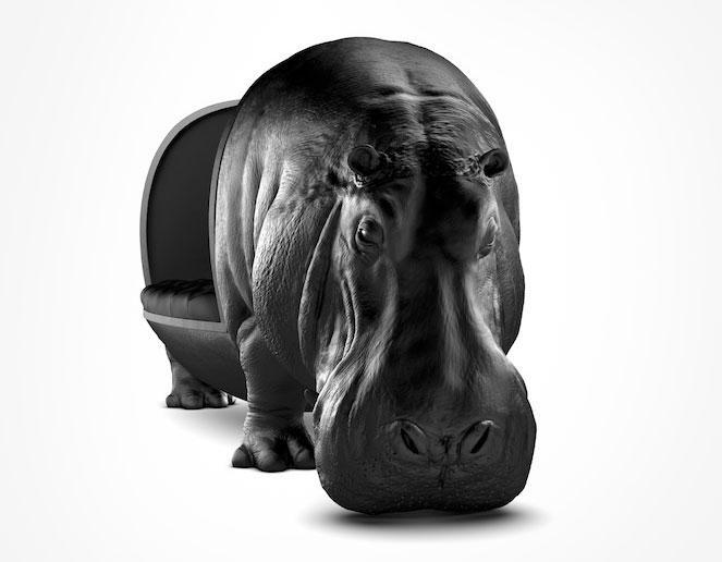 河马座椅沙发酒吧影楼会所设计创意艺术异形动物沙发椅凳单人座椅