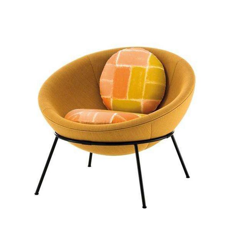 鸡蛋沙发椅大碗椅艺术椅北欧创意单人沙发休闲沙发椅售楼洽谈样板