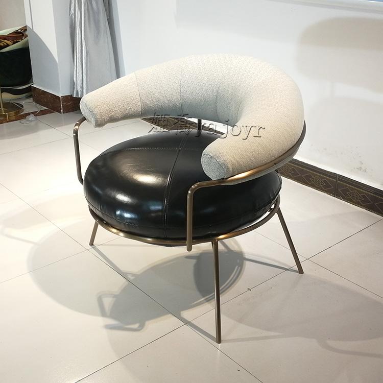新款 月亮休闲椅 不锈钢电镀 现代简约 酒店 别墅 室内 样板房