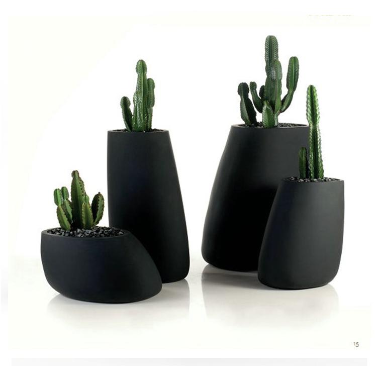 艺术种植花瓶 万象个性玻璃钢花盆 园艺三件套装饰设备 成品花桶