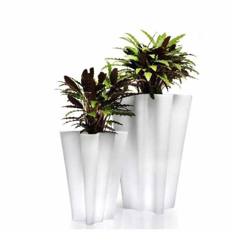 玻璃钢菱形花瓶商场酒店落地花盆样板房别墅时尚花器设计师花盆