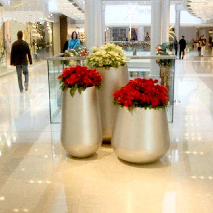 玻璃钢花盆个性组合户外公园商场美陈简约花盆装饰花器花瓶定制
