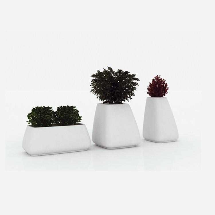 定制玻璃钢组合花瓶花器现代简约落地花盆摆件别墅豪宅商城装饰