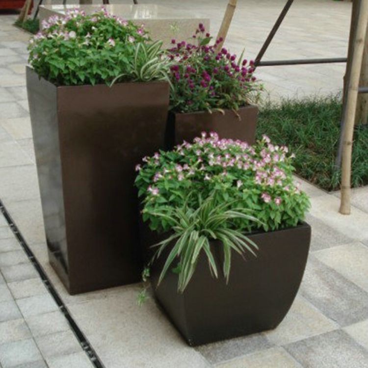 玻璃钢花盆套装花盆定制花盆时尚休闲落地三件套花盆玻璃钢花盆