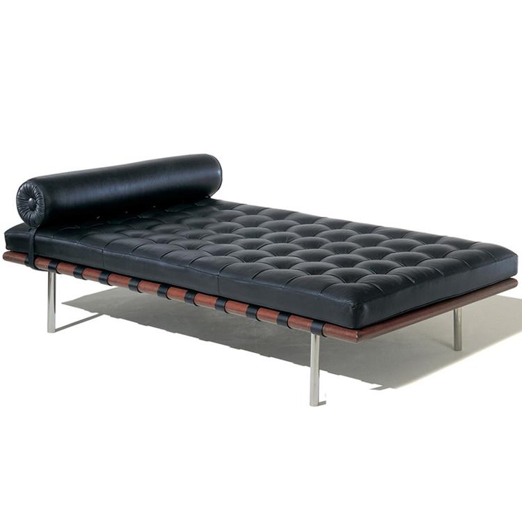 巴塞罗那床真皮沙发床 小户型单人沙发 现代休闲办公室午睡 会所美式乡村床铺