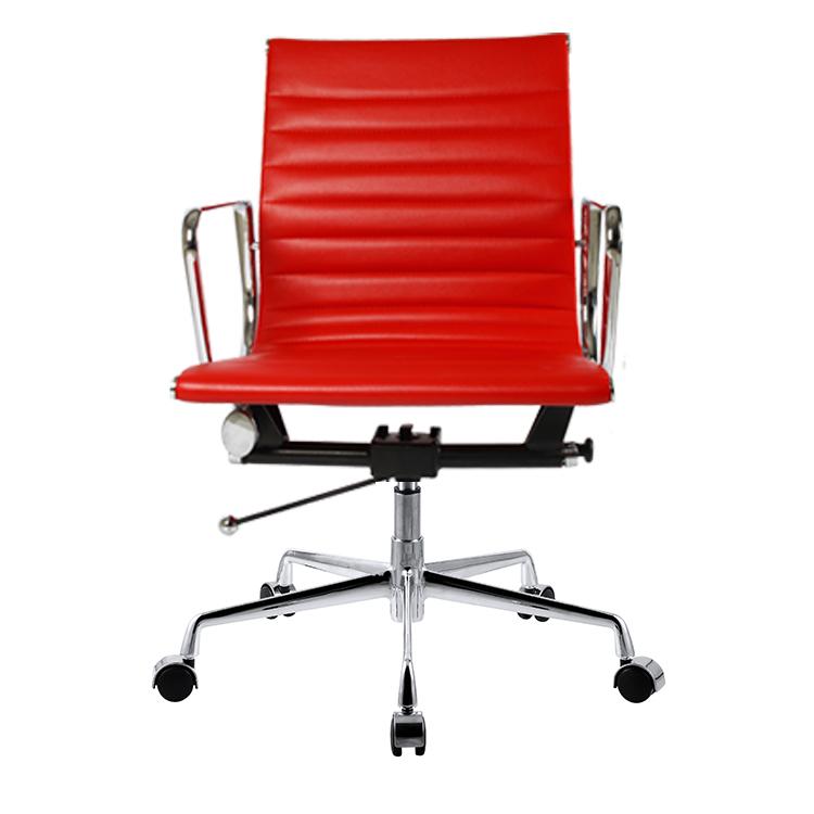办公椅老板椅大班椅 休闲时尚转椅皮质电脑椅 中靠背书桌椅