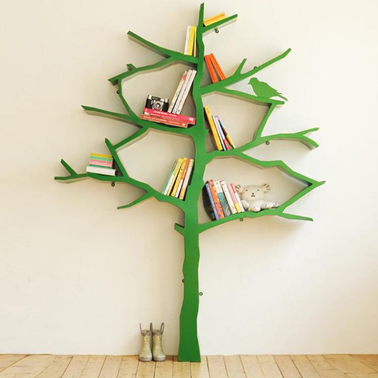时尚书架树形书架玻璃钢置物架书架储物架落地收纳展示架简约落地