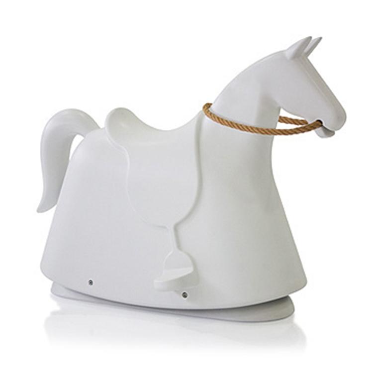 儿童摇摇椅定制设计时尚简约个性多色玻璃钢小马椅游乐园动物坐骑