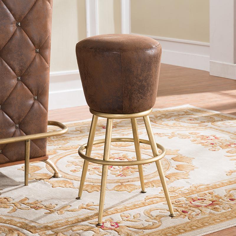 高脚凳吧台凳轻奢高脚椅子吧台椅创意美式吧台椅复古休闲吧台凳子