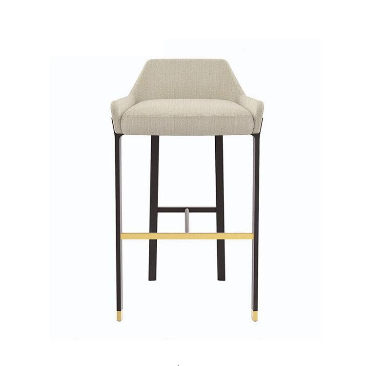 北欧轻奢金属吧椅美式休闲吧椅现代简约设计师酒吧前台高脚椅吧凳