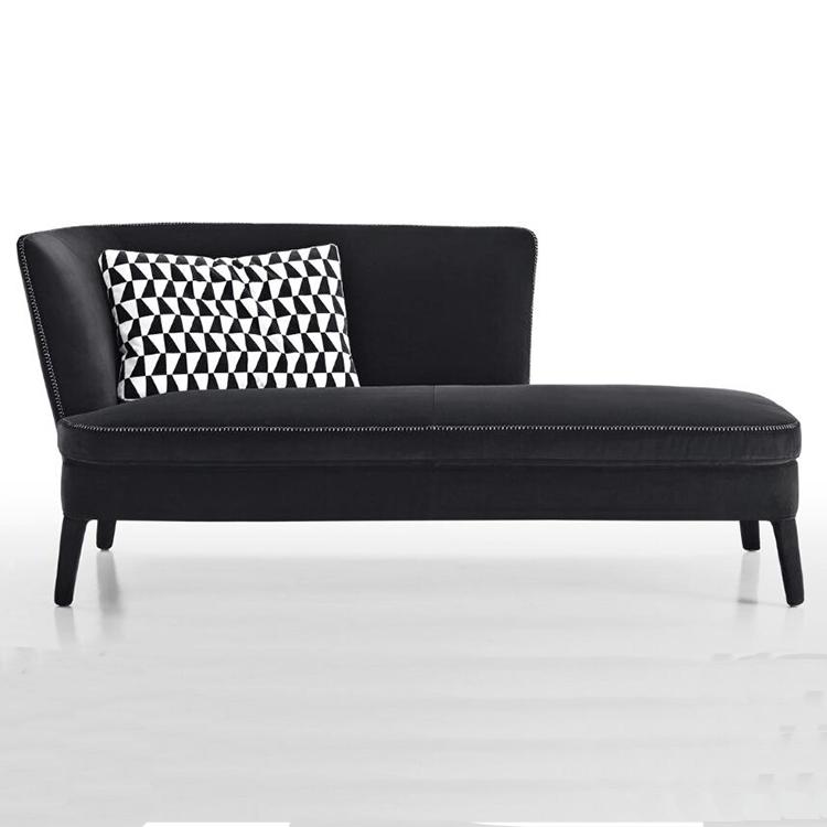 高端家具定制 新古典布艺贵妃沙发 美式简约卧室贵妃椅