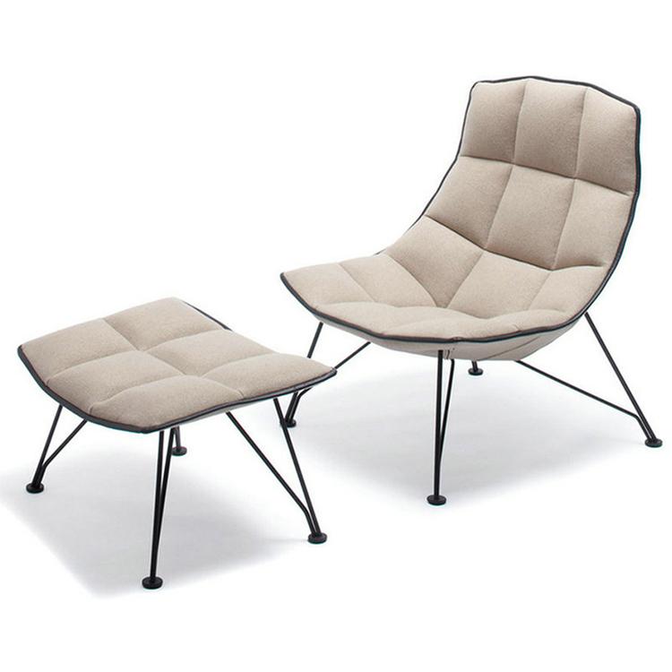 北欧面包椅休闲椅沙发椅时尚经典接待洽谈办公单人皮沙发布艺椅子