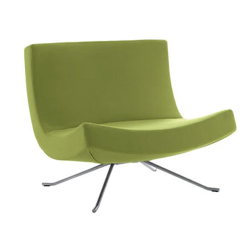 北欧休闲沙发椅布艺客厅时尚现代单椅办公会客接待洽谈椅会议椅子