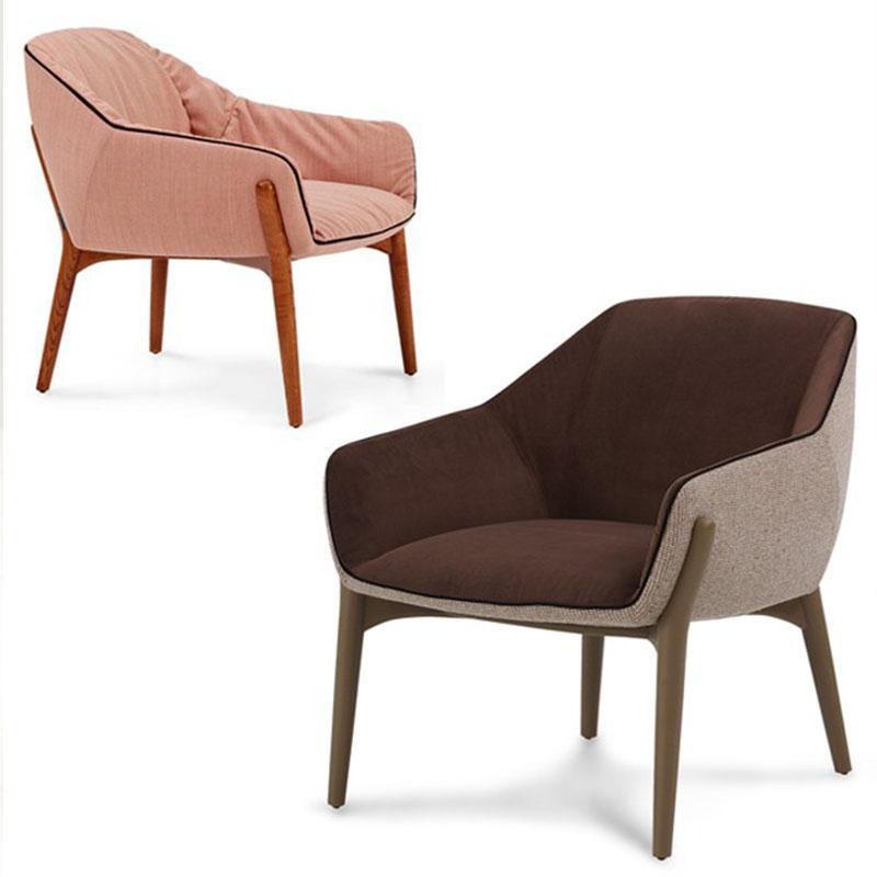 实木布艺软包餐椅现代简约客厅酒店接待会客椅家用书房电脑椅